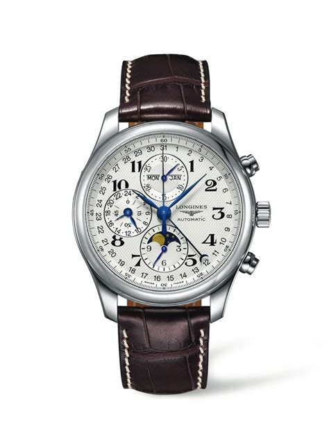 Longines Master Moonphase Chronograph l27734783 the longines master collection 42mm stainless steel chronograph with moon phase