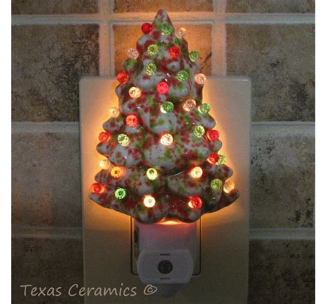 green ceramic tree with lights ceramic tree in green white with