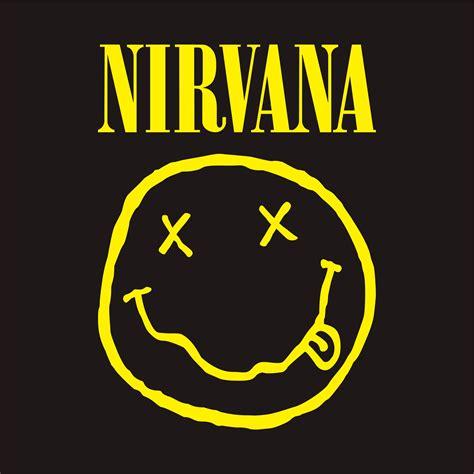 Kaos Gildan Kurt Cobain Nirvana Logo medium black t shirt nirvana smiley kurt