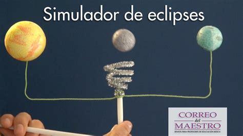 como hacer una maqueta del ecplise solar y lunar simulador de eclipses youtube