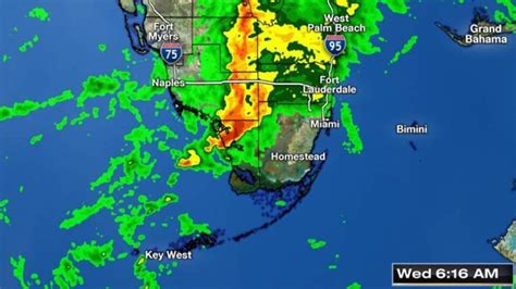 south florida weather map track severe weather in south florida