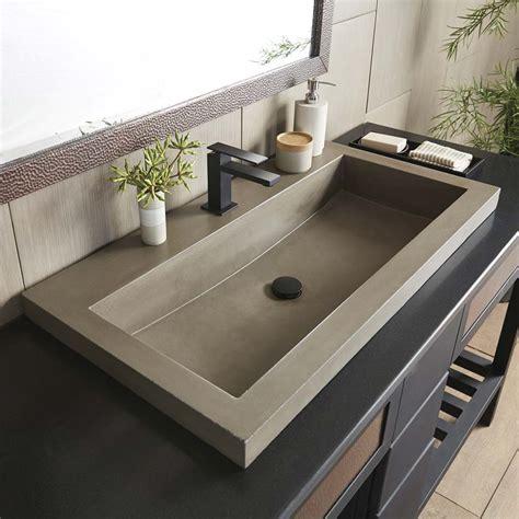 Diy Concrete Trough Sink by Trough 3619 36 Inch Concrete Trough Bathroom Sink