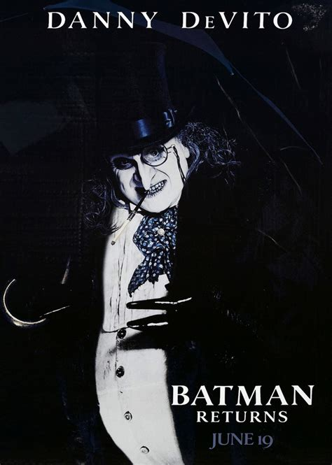 batman returns movie poster 1 sided original penguin 27x40