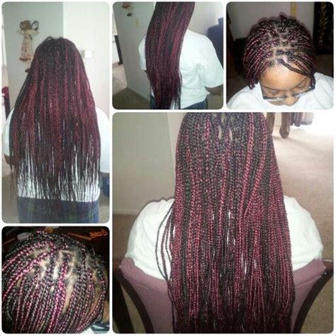 burgnary and black box braids burgundy and black box braids hair by me pinterest