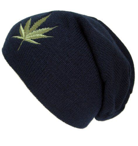 smokeweed beanie hat hats m 144 navy blue slouchy beanie for and