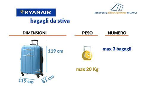 quanti bagagli si possono portare in aereo bagaglio da stiva ryanair aeroporto di napoli capodichino