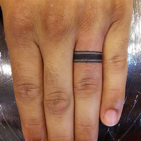 ring finger tattoos for men 40 awesome finger ring tattoos for and