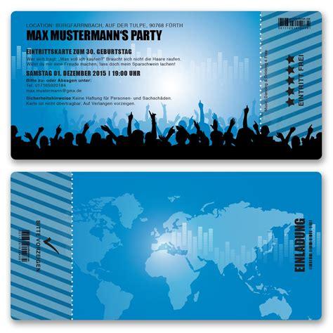 einladungskarten blau einladungskarten als eintrittskarte festivalticket bestellen