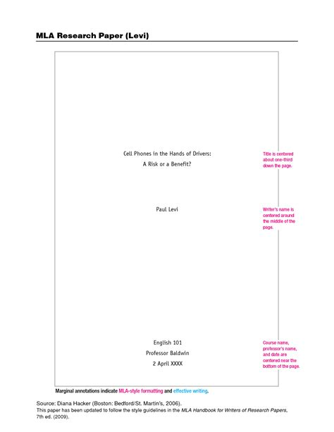 cover page for term paper mla format template cyberuse