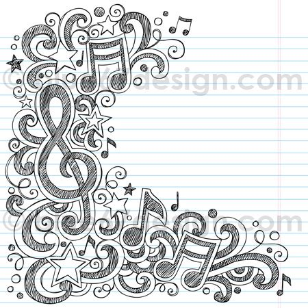 music notes sketchy doodle vector illustration by blue67de