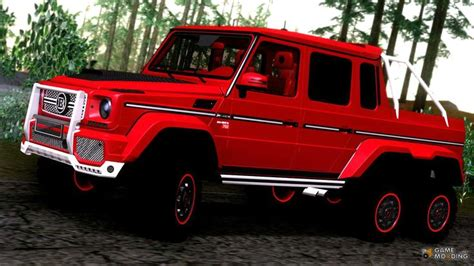 Miniatur Mobil Mercedes G 63 Amg 6x6 Gold san andreas and on