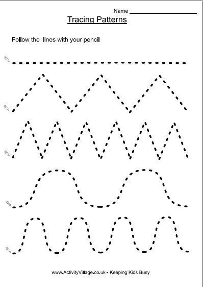 tracing patterns homeschool pinterest tracing