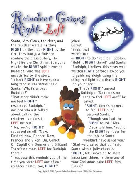printable reindeer trivia 44 best christmas printable games images on pinterest