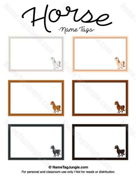 free template for labels for cards western printable name tags