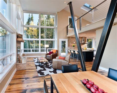MODERN MOUNTAIN CABIN   Contemporary   Living Room