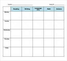 weekly lesson plan template free sle blank lesson plan template 10 free documents in pdf