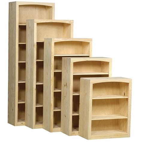 30 Inch Bookshelf Pine 30 Inch Bookcase Unfinished Furniture
