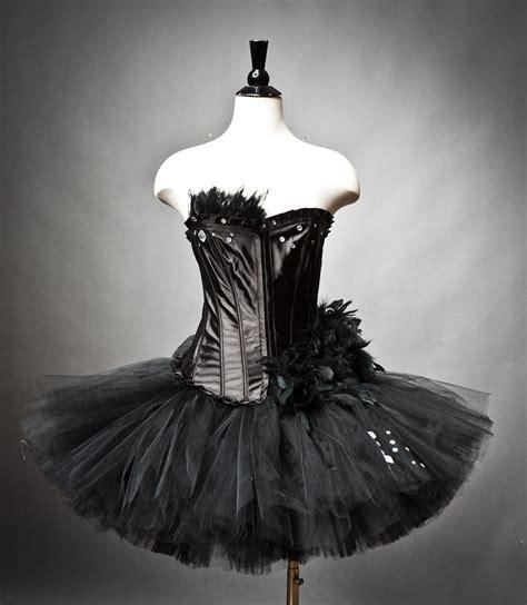Black Swan Dress size medium black swan ballet costume burlesque tutu ready to