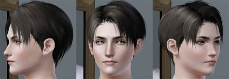 attack on titan sims 3 hair levi s low poly model kewai dou