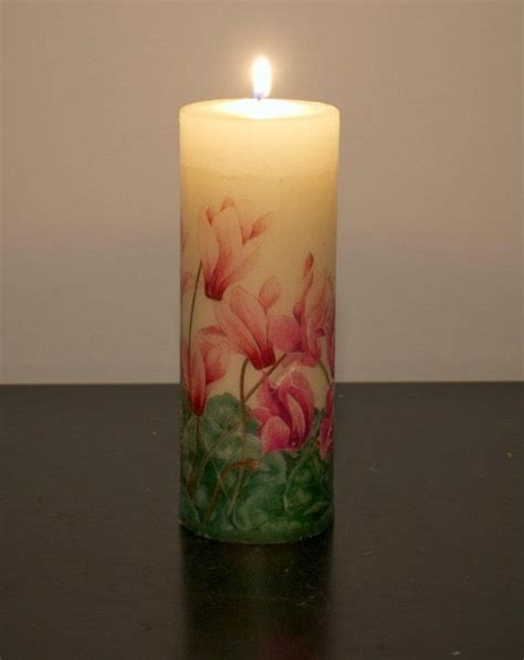 decoupage candle candle decoupage ideas