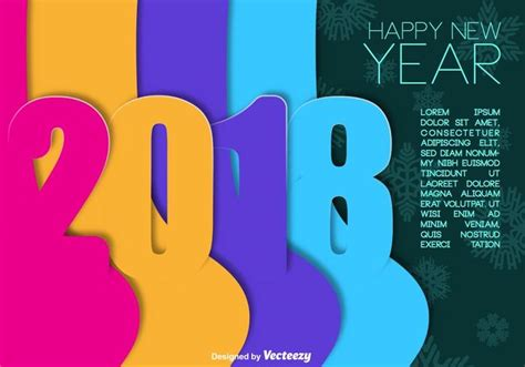 new year 2018 resources 2018 happy new year vector colorful background