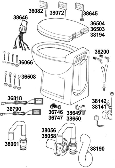 Thetford Toilet Exploded View by Thetford Rv Toilet Diagram Imageresizertool
