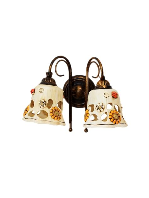applique rustici applique rustico ferro battuto con ceramica 2 sofia