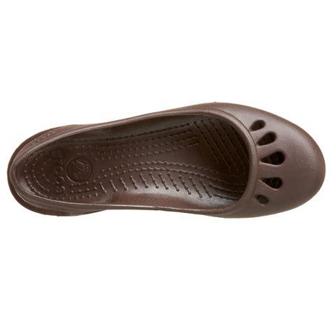 Malindi Crocs Flat galleon crocs s malindi flat slingback brown 8 m