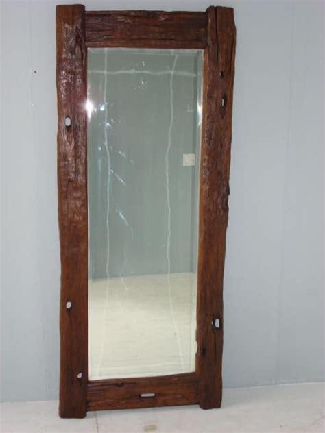 rustic wood java floor mirror at 1stdibs