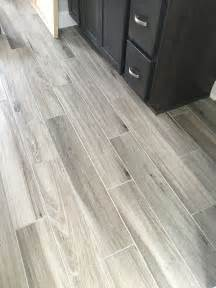 bathroom hardwood flooring ideas newly installed gray weathered wood plank tile flooring