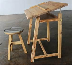Diy Drawing Desk Reclaimed Furniture From Demolished Buildings