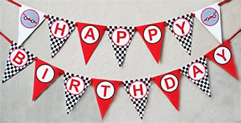 Bunting Flag Happy Birthday Banner Hbd Karakter Paw Patrol race car birthday banner pennant import it all