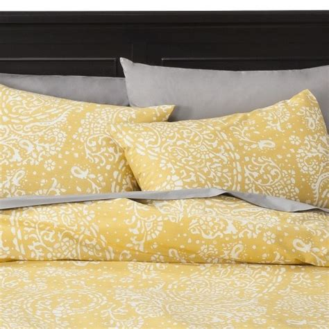 target threshold gully paisley duvet cover set yellow image zoom house interior ideas