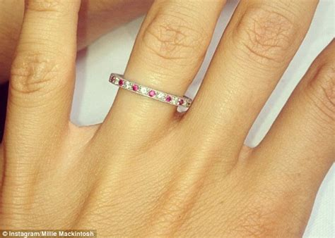 Millie Mackintosh Shows Off Diamond Encrusted Wedding Band