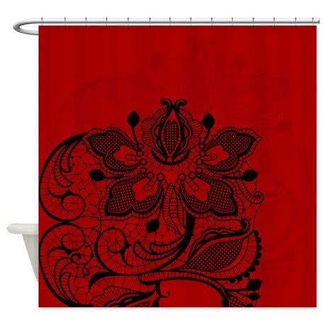 black white red shower curtain red and black lace shower curtain by glamourgirls2