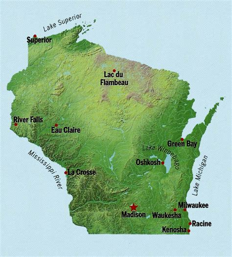 wisconsin state map wisconsin state maps interactive wisconsin state road maps state maps