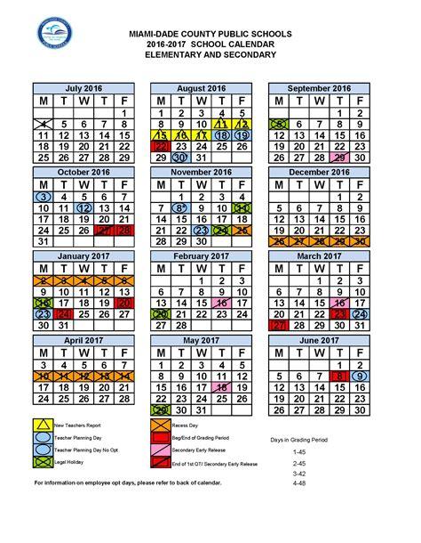 Calendario Escolar Miami Dade Miami Dade Calendar School 2017 Free Calendar 2017 2018
