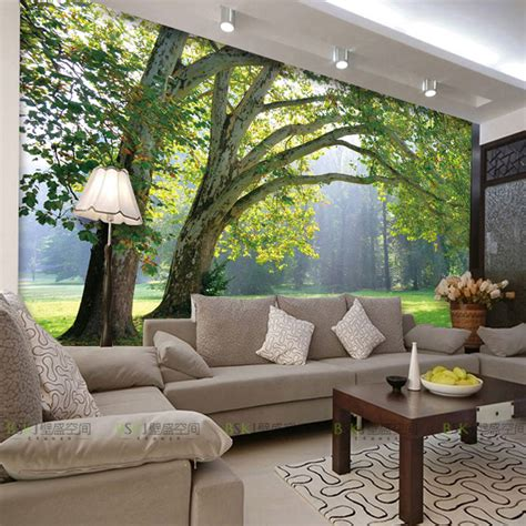 buy  photo wallpaper nature park tree murals bedroom living room sofa tv