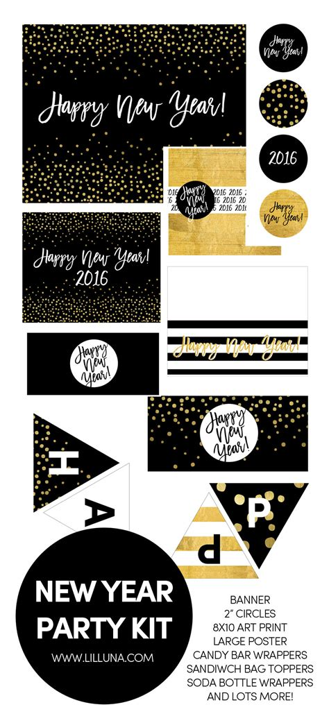 new year printables new year s printables the crafting