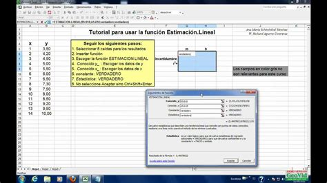 tutorial excel regresion lineal c 243 mo obtener par 225 metros de regresi 243 n lineal excel youtube