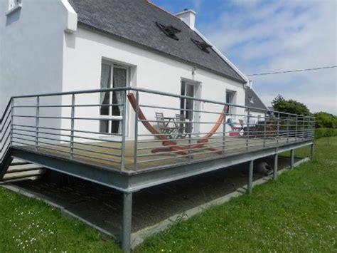 überdachung terrasse metall escaliers lannion atelier du metal garde corps
