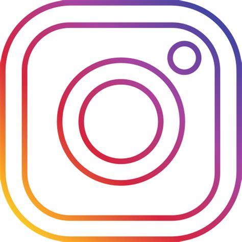 imagenes png neon icono instagram la foto la ronda social gratis de neon