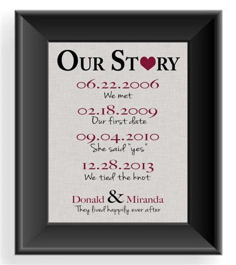 Valentine's Day Gift First Anniversary Gift by