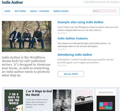 great wordpress themes for authors wp crash