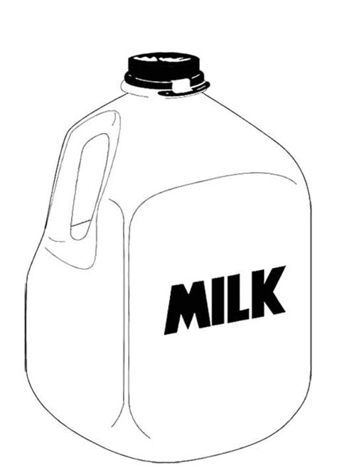 gallon milk coloring page  kids kids coloring pages