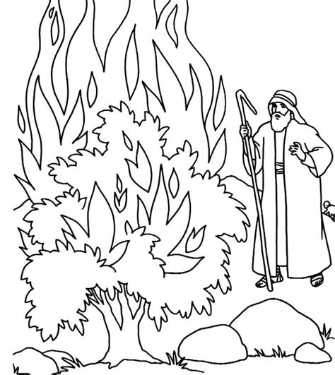 burning house coloring page fire burning bush in fornt of moses coloring pages netart