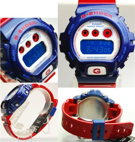 The Punisher Biru casio jam tangan pria g shock dw 6900ac 2dr biru merah