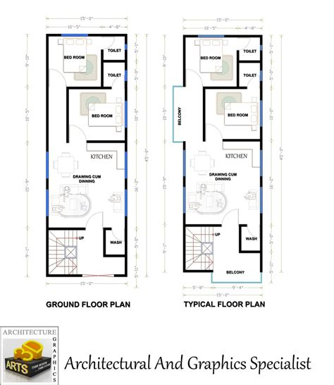 i need a house plan need a fantastic house plan of 15 x45 area freelancer