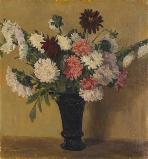 dalie in vaso giuseppe malagodi il vaso di dalie dipinti antichi e
