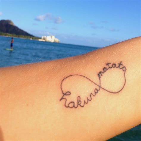 infinity tattoo hakuna matata hakuna matata infinity tattoo love this pinterest